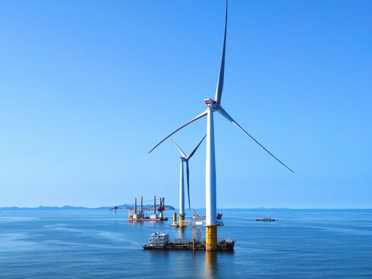 中广核阳江南鹏岛400MW海上风电项目主体工程完工-《国资报告》杂志